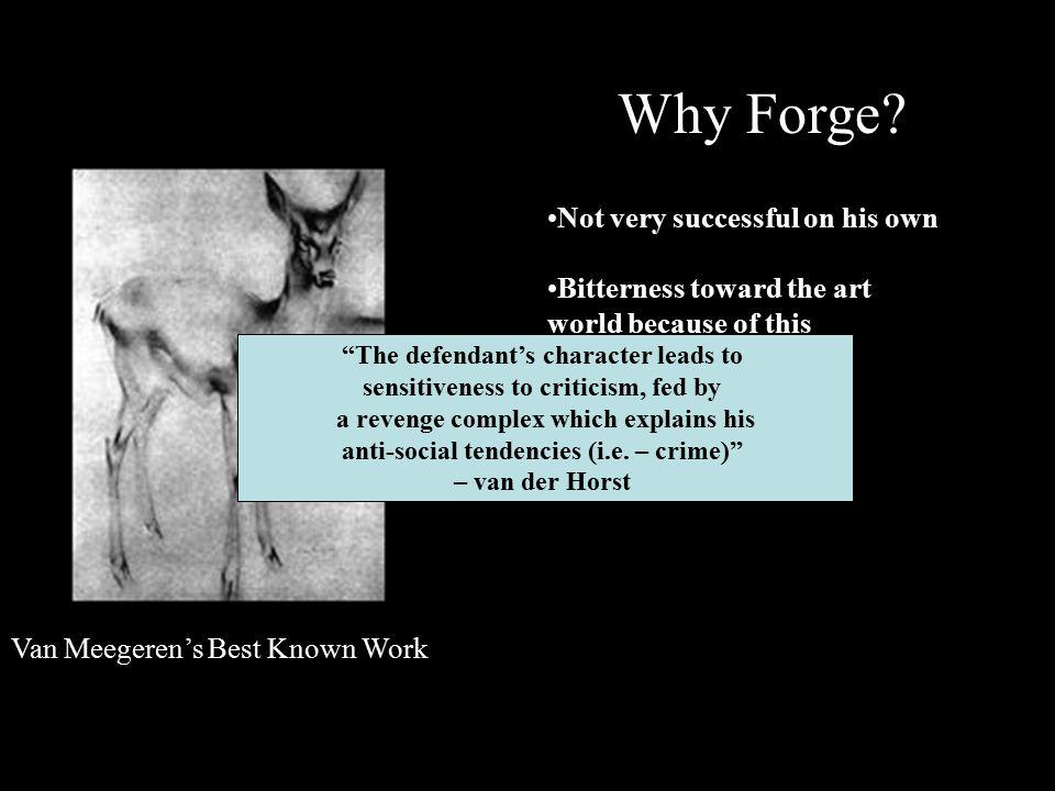 Van Meegeren's Best Known Work Why Forge.
