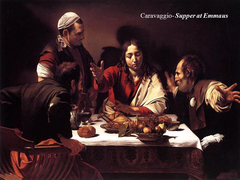 Caravaggio- Supper at Emmaus