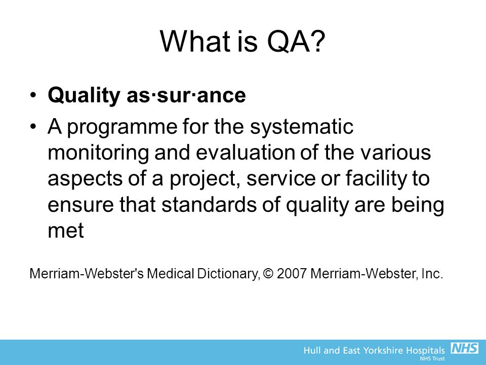 What is QA.