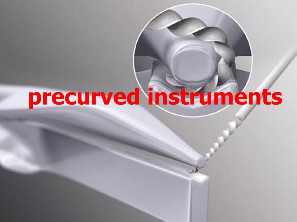 precurved instruments