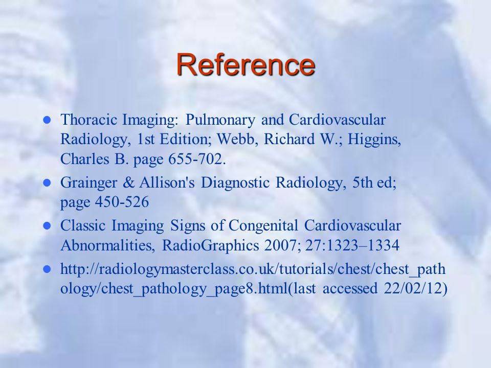 Reference Thoracic Imaging: Pulmonary and Cardiovascular Radiology, 1st Edition; Webb, Richard W.; Higgins, Charles B.