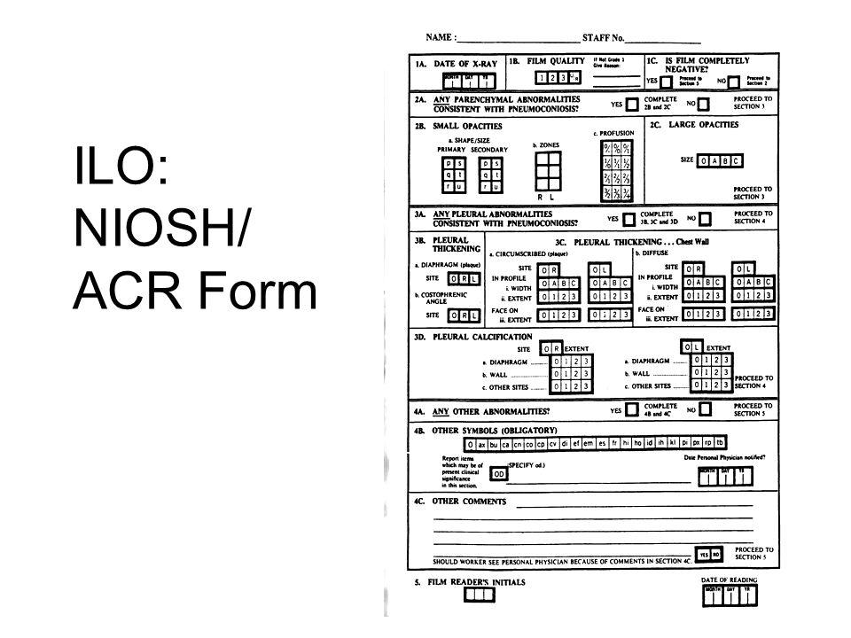 ILO: NIOSH/ ACR Form
