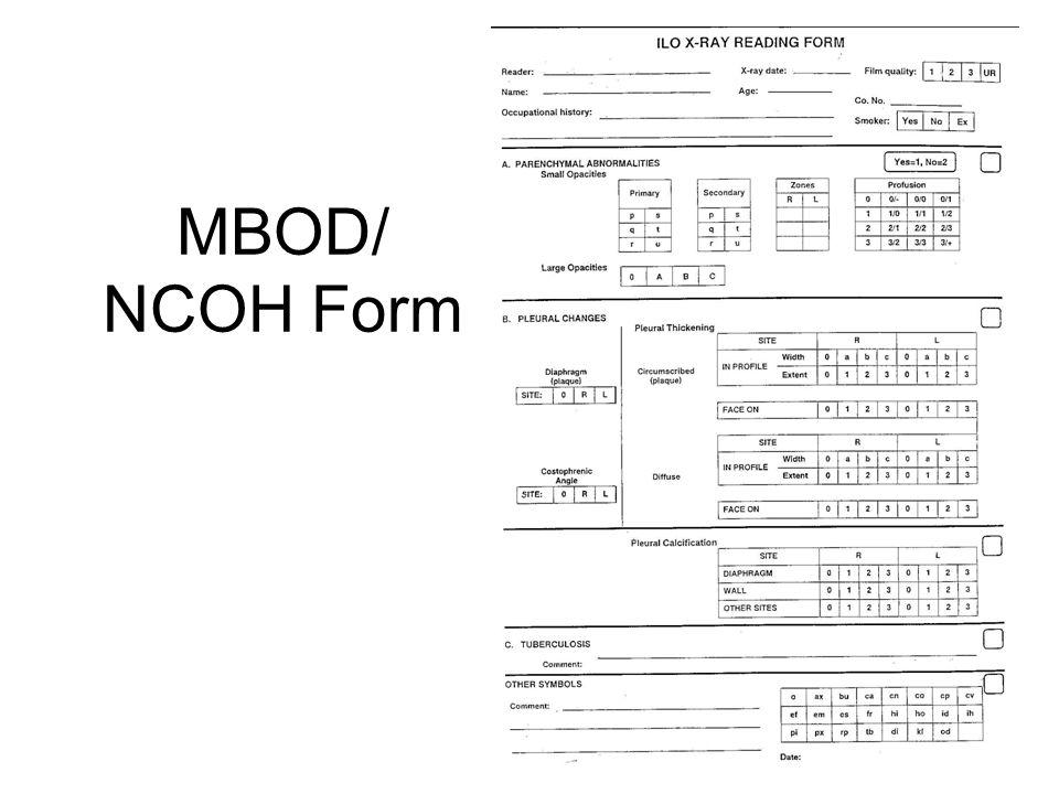 MBOD/ NCOH Form