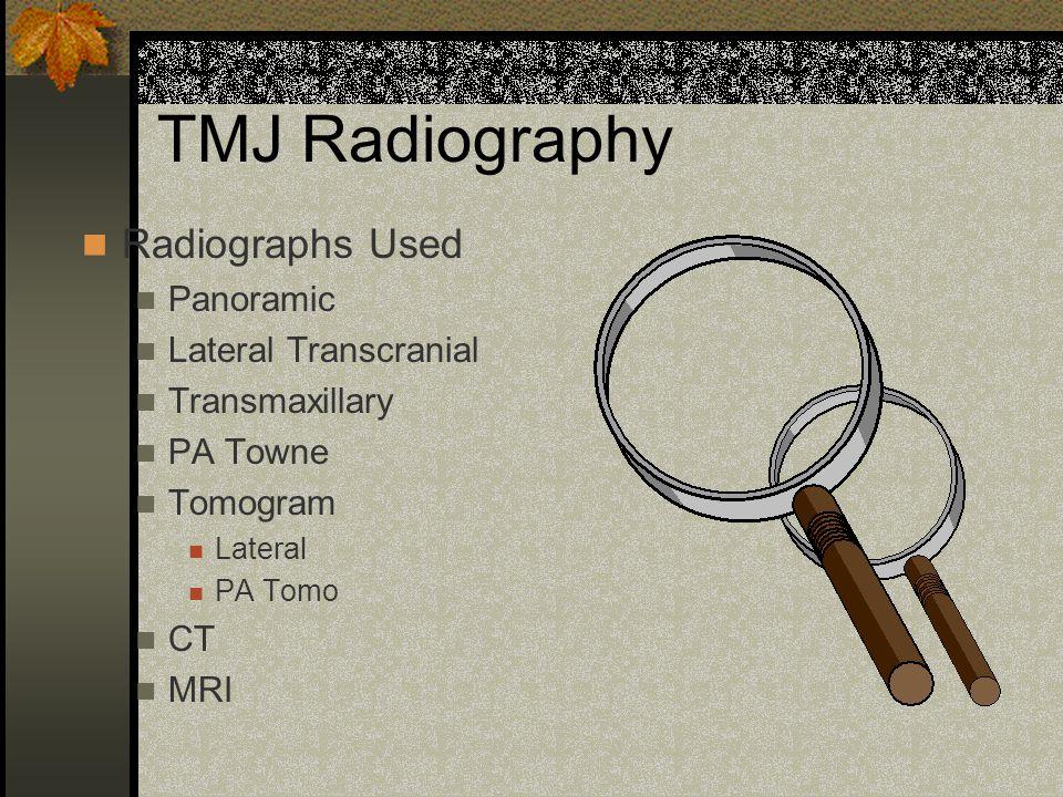 TMJ Radiography Jon K. Park, D.D.S., M.S.