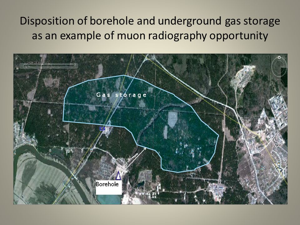 Disposition of borehole and underground gas storage as an example of muon radiography opportunity