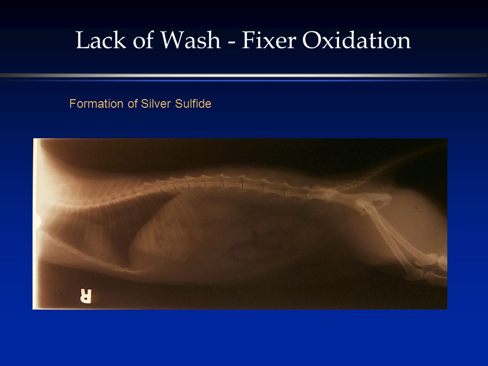 Lack of Wash - Fixer Oxidation Formation of Silver Sulfide