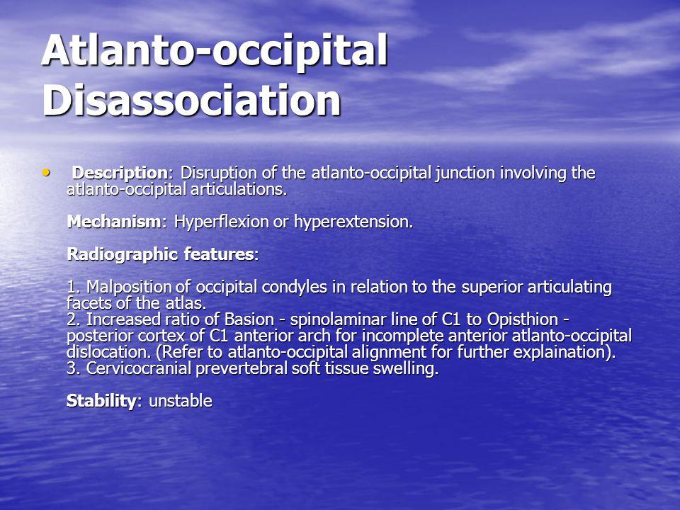 Atlanto-occipital Disassociation
