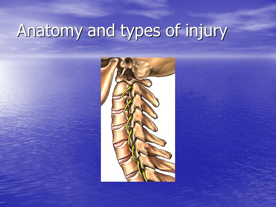Upper Cervical Spine Injuries Most common injury is flexion.