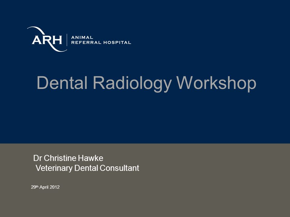 Dental Radiology Workshop Dr Christine Hawke Veterinary Dental Consultant 29 th April 2012
