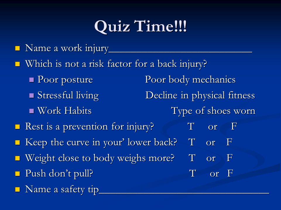 Quiz Time!!.