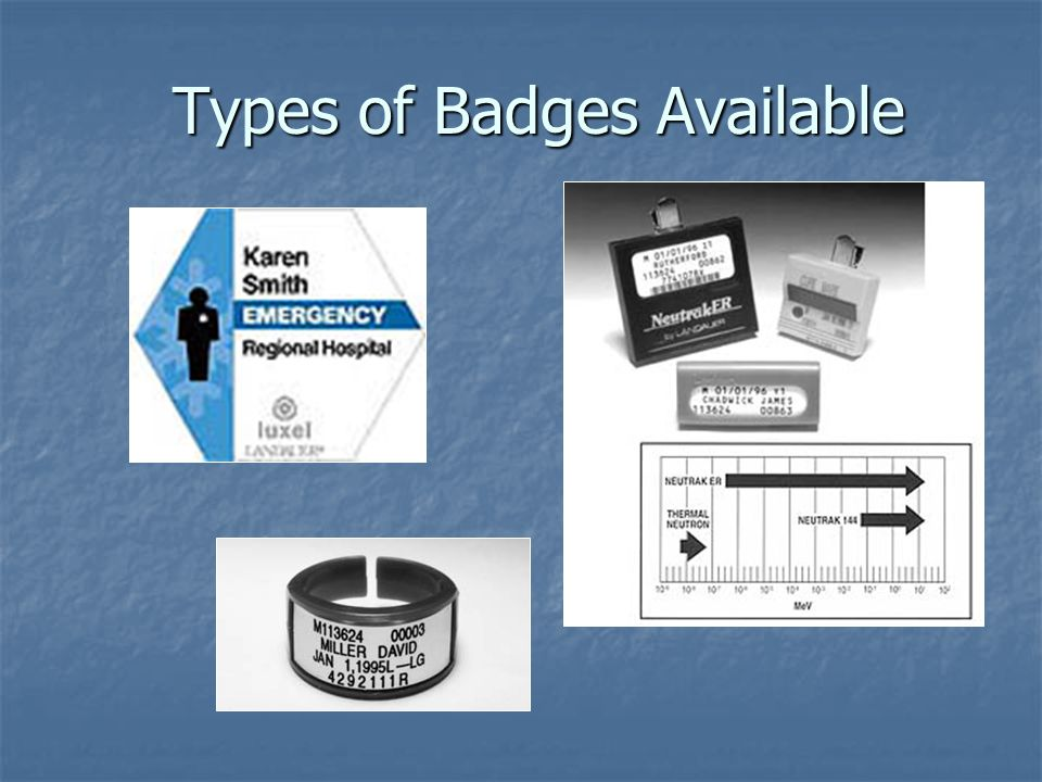 Types of Badges Available