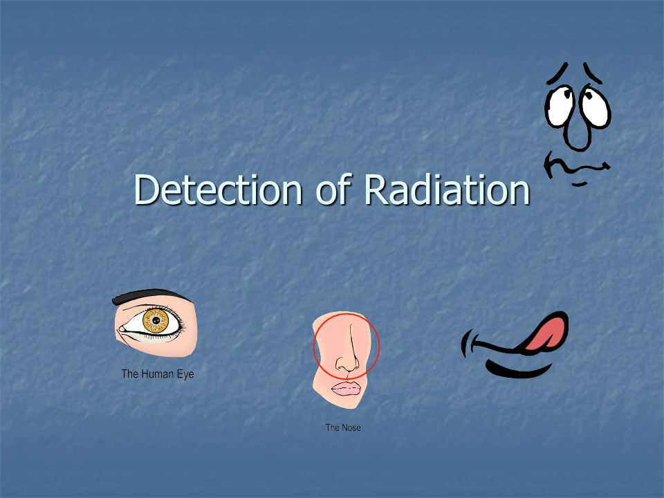 Detection of Radiation