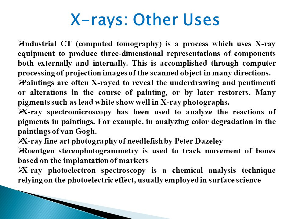  Industrial CT (computed tomography) is a process which uses X-ray equipment to produce three-dimensional representations of components both externally and internally.