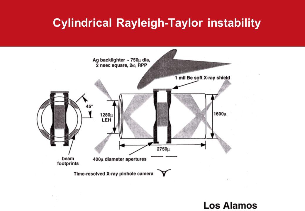 Cylindrical Rayleigh-Taylor instability