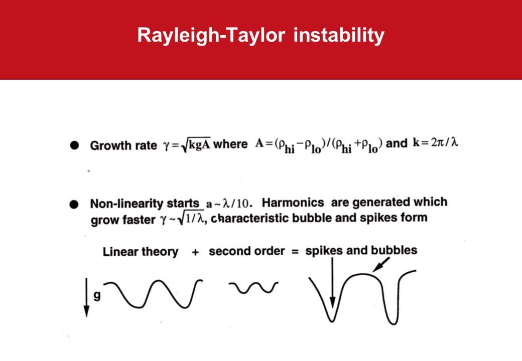 Rayleigh-Taylor instability