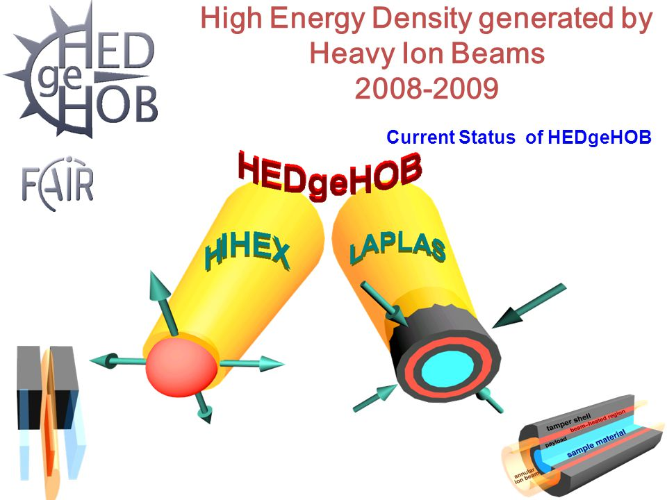 High Energy Density generated by Heavy Ion Beams 2008-2009 Current Status of HEDgeHOB