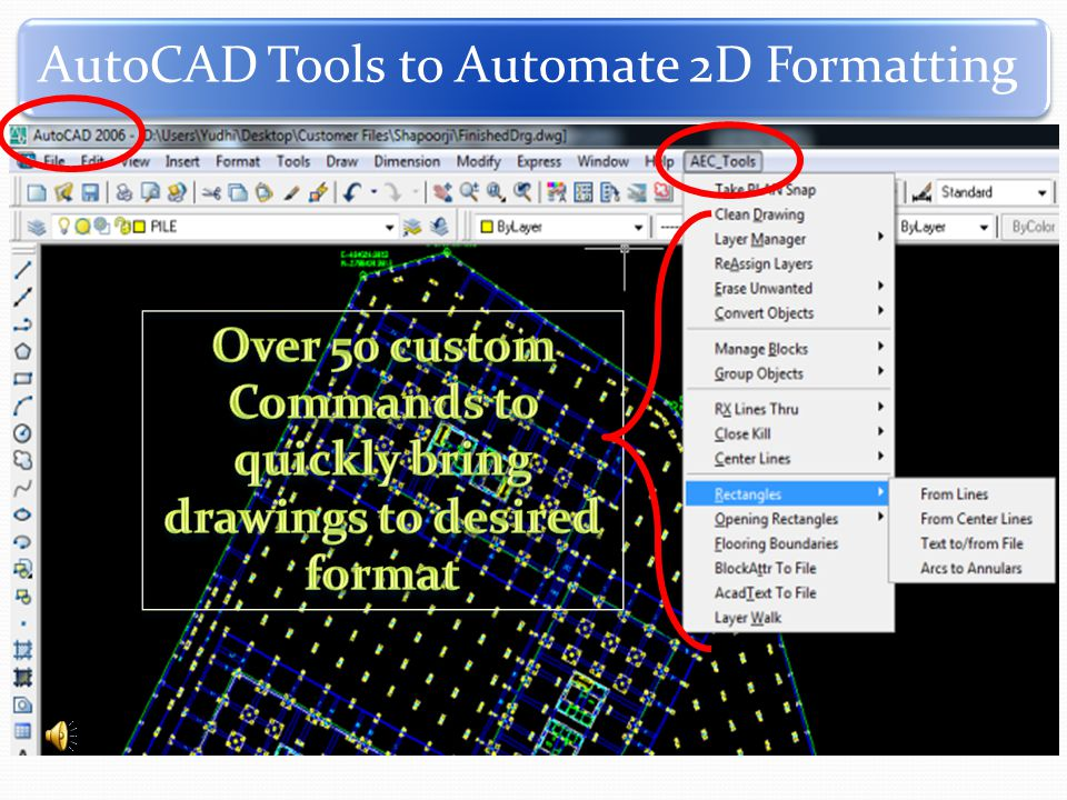 AutoCAD Tools to Automate 2D Formatting