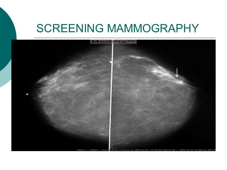 SCREENING MAMMOGRAPHY ↓