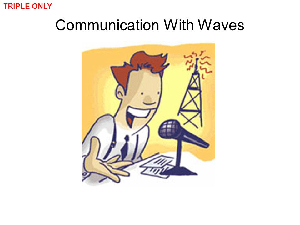 Communication With Waves TRIPLE ONLY