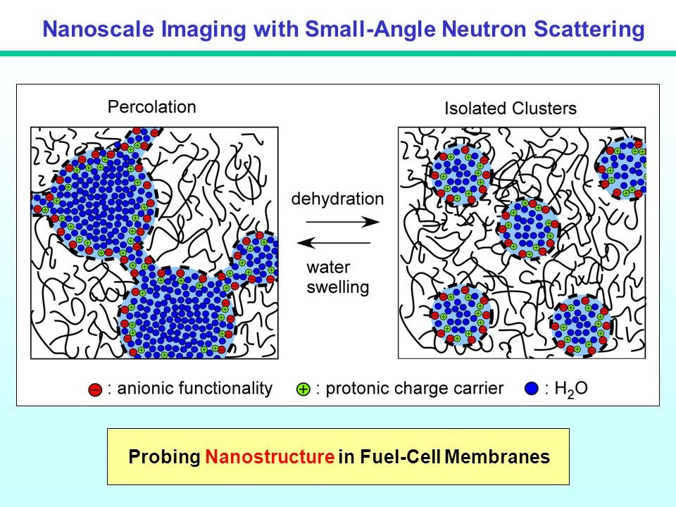 Nanoscale Imaging with Small-Angle Neutron Scattering Probing Nanostructure in Fuel-Cell Membranes