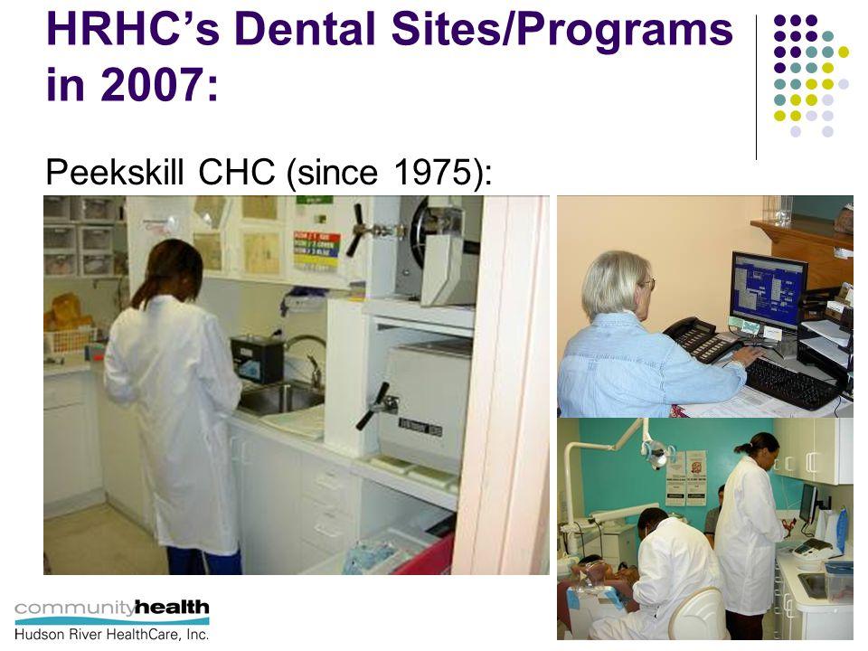 HRHC's Dental Sites/Programs in 2007: Peekskill CHC (since 1975):