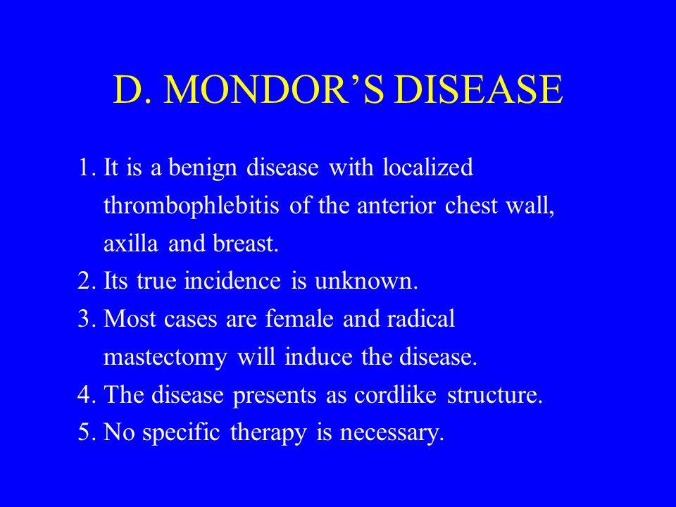 D.MONDOR'S DISEASE 1.