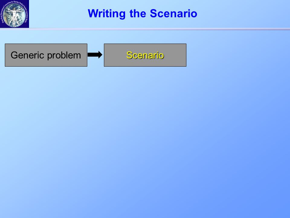 Generic problemScenario Writing the Scenario