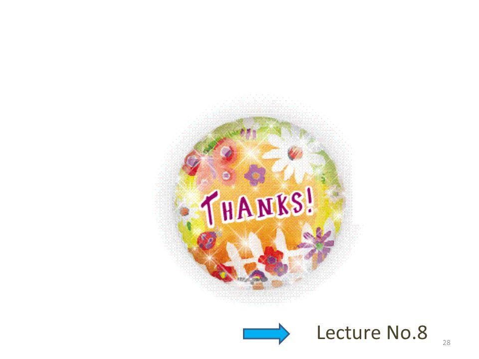 28 Lecture No.8