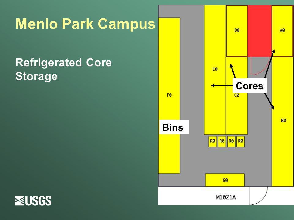 Menlo Park Campus Refrigerated Core Storage Bins Cores