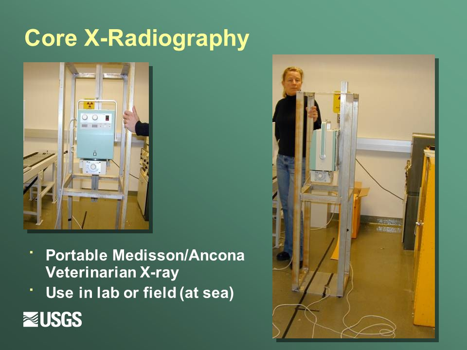 · Portable Medisson/Ancona Veterinarian X-ray · Use in lab or field (at sea) Core X-Radiography
