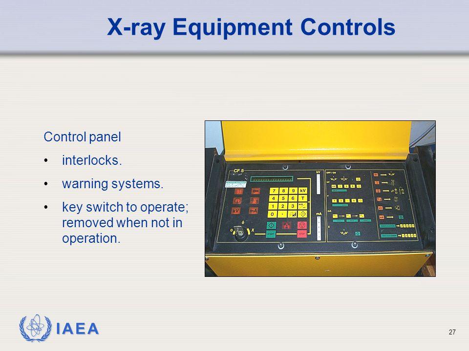 IAEA 27 Control panel interlocks.warning systems.