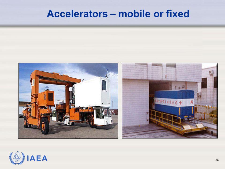 IAEA 34 Accelerators – mobile or fixed