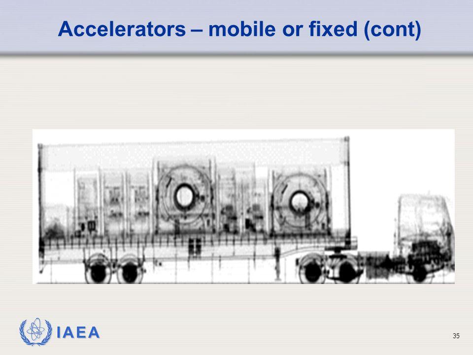 IAEA 35 Accelerators – mobile or fixed (cont)