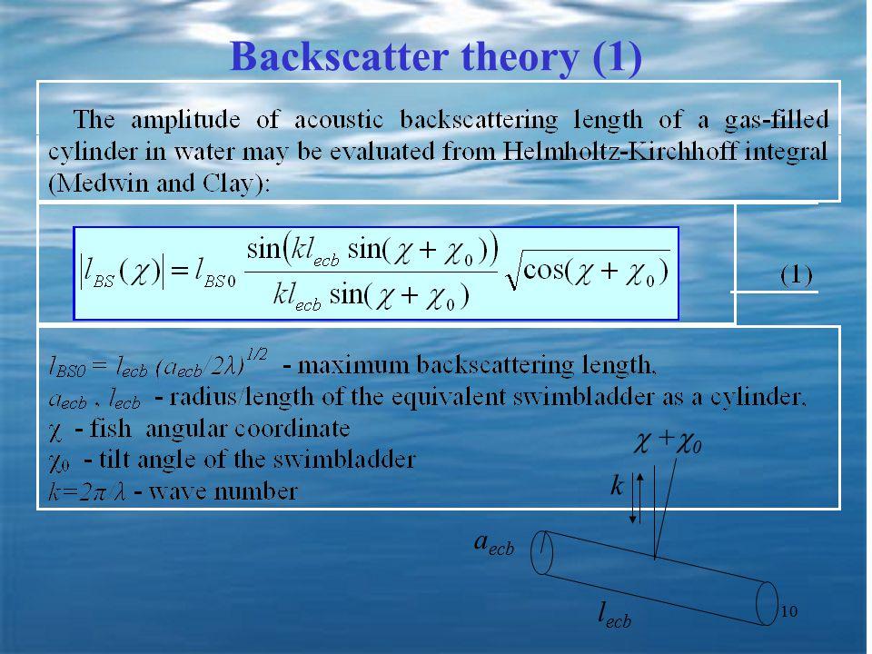 10 Backscatter theory (1)  +  0 l ecb a ecb k