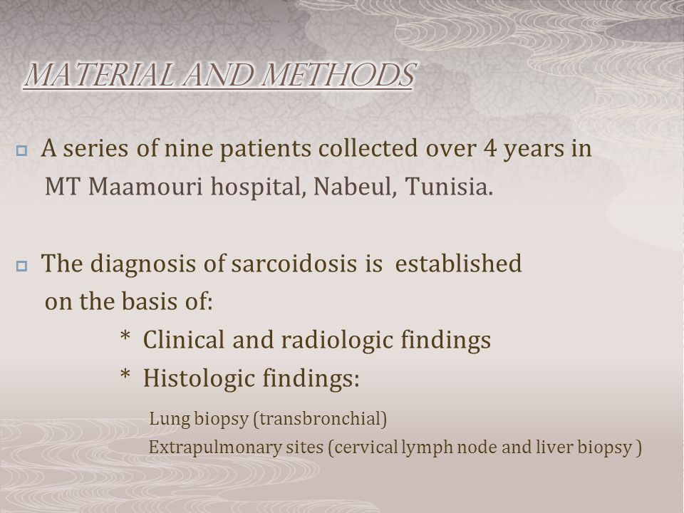  A series of nine patients collected over 4 years in MT Maamouri hospital, Nabeul, Tunisia.