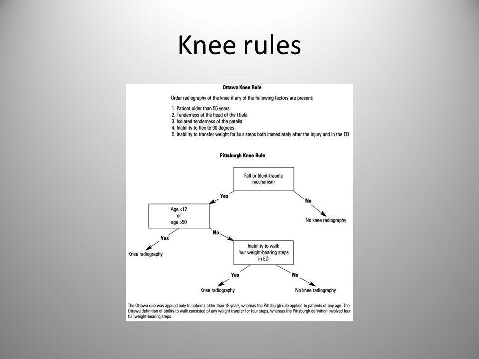 Knee rules