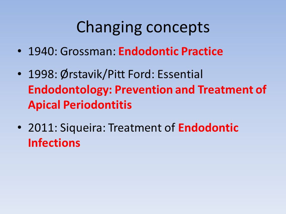 start -> 1987 -> 2010 -> Resorptions & trauma necessitate treatment for prevention of apical periodontitis