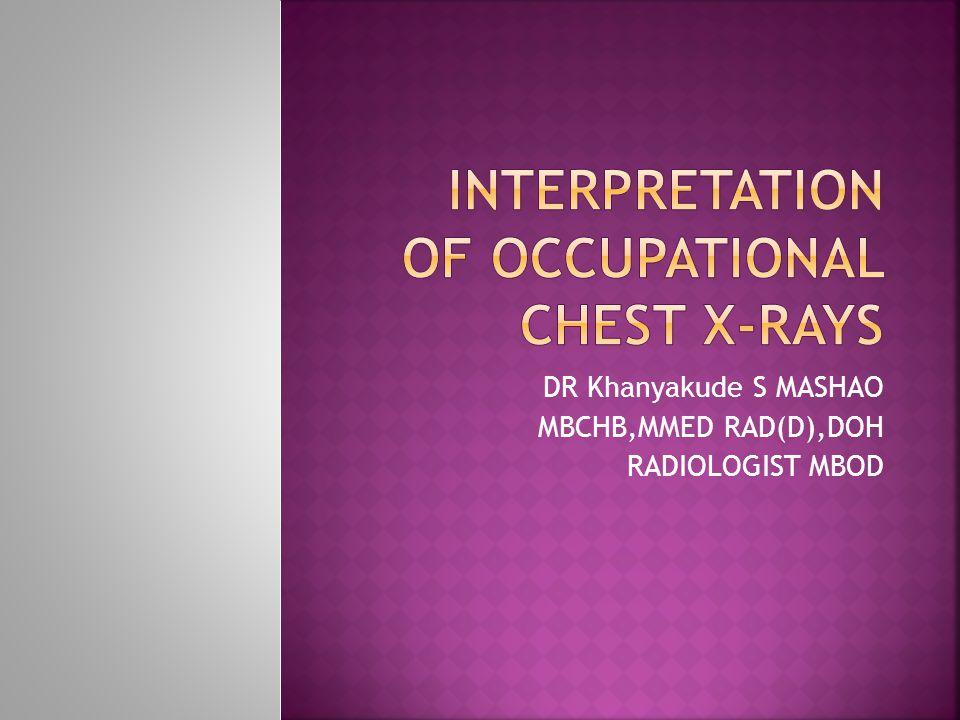 DR Khanyakude S MASHAO MBCHB,MMED RAD(D),DOH RADIOLOGIST MBOD