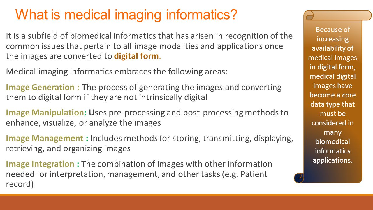 What is medical imaging informatics.