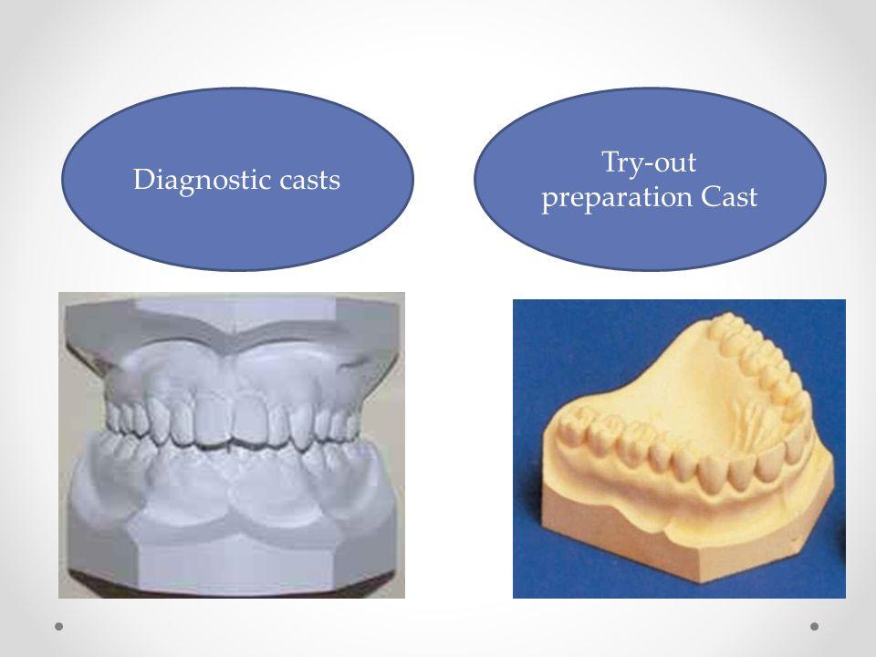 Diagnostic casts Try-out preparation Cast