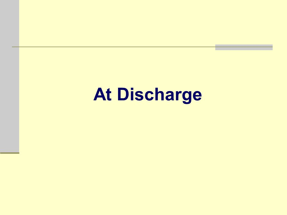 At Discharge