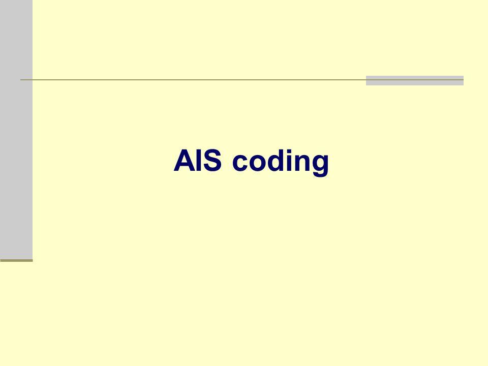 AIS coding