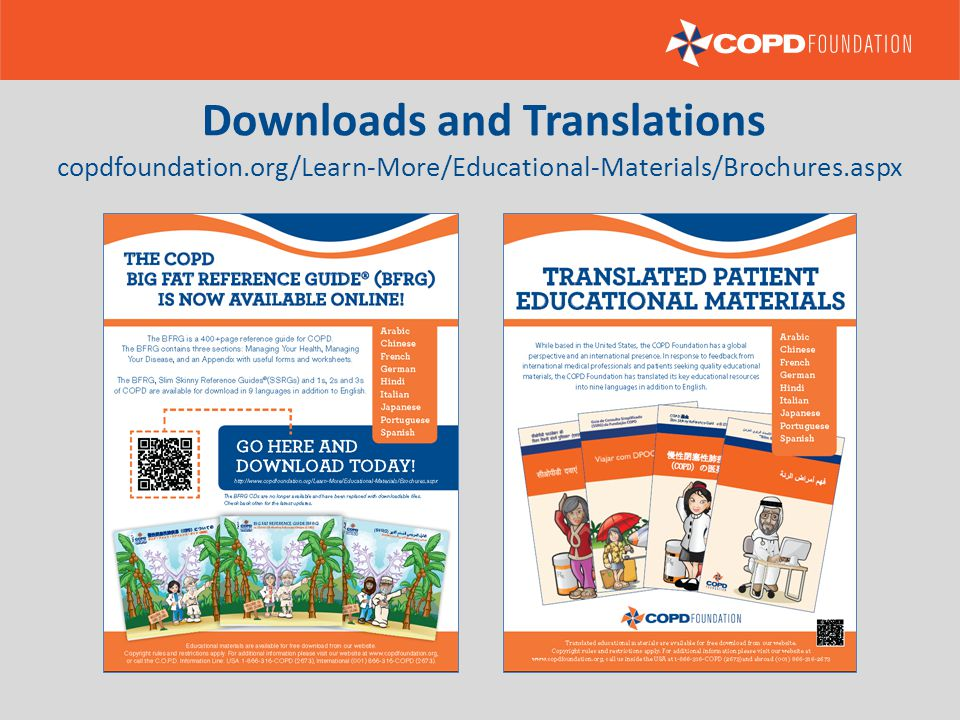 copdfoundation.org/Learn-More/Educational-Materials/Brochures.aspx Downloads and Translations