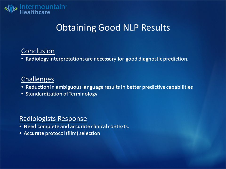 NLP Challenges - Ambiguous Language Possible Pneumonia Clinical History: Cough and dyspnea.