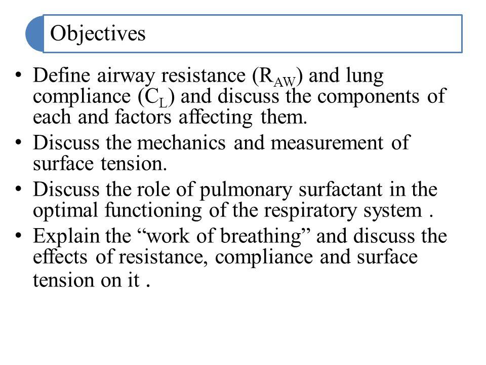 The alveolar pressure is the sum of the pleural pressure P pl and the elastic recoil pressure P el.