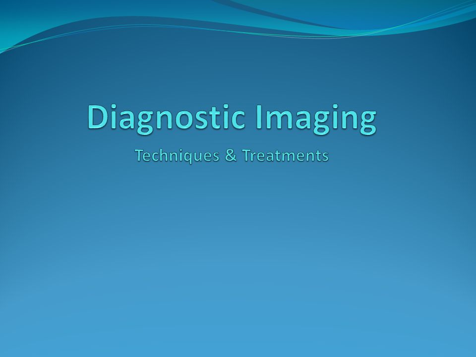 StandardHS-TGM-16 Students will demonstrate understanding of the services provided in diagnostic imaging a.