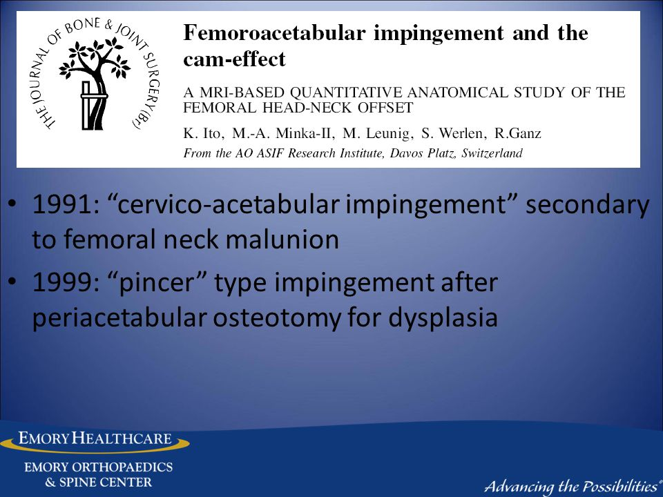Evolution of an Understanding Reinhold Ganz Anatomy Perfusion Osteotomy Dislocation Impingement