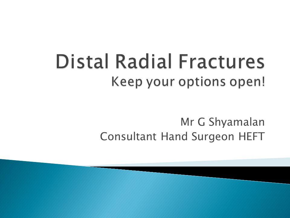 Mr G Shyamalan Consultant Hand Surgeon HEFT