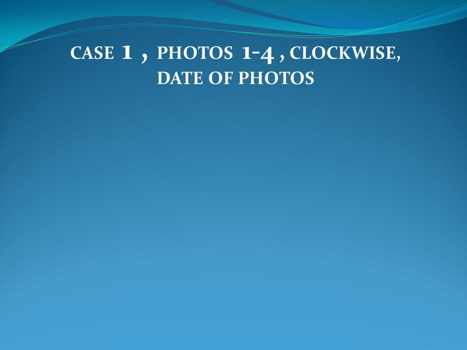 CASE 1, PHOTOS 1-4, CLOCKWISE, DATE OF PHOTOS