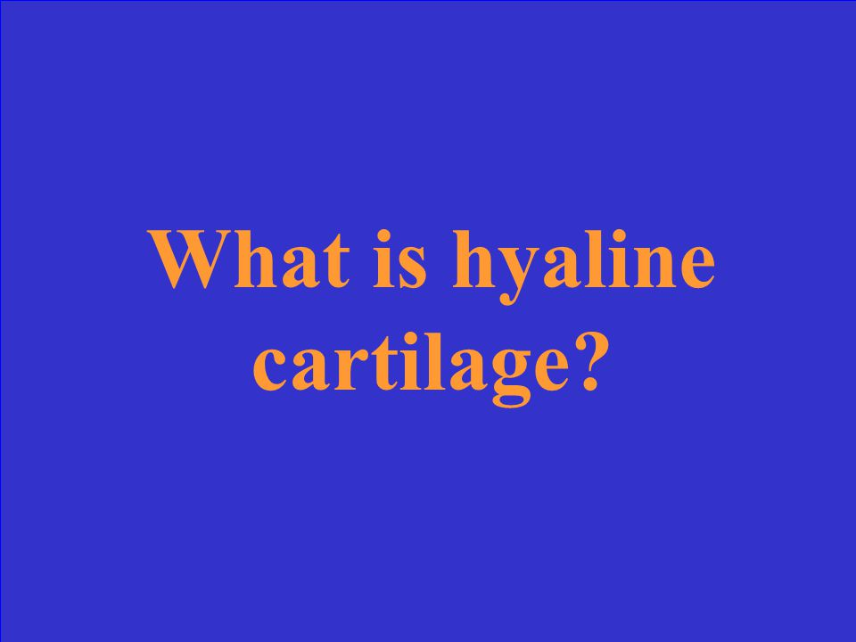 This type of cartilage is the most common and the most rigid.